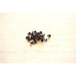50 cache-noeuds en métal couleur cuivre 3x4mm