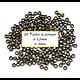 50 perles à écraser en métal couleur bronze 1,5mm/3mm