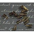 20 embouts serre-fil à écraser en métal couleur bronze 2,5x7,5mm