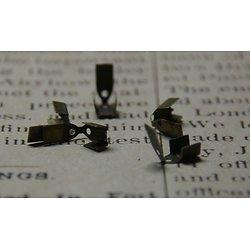 10 embouts pliables en métal couleur bronze 9x4mm