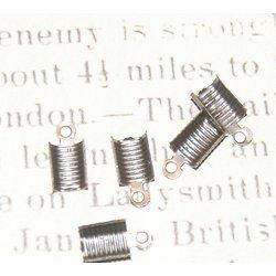 10 embouts serre-fil en métal couleur cuivre 6x12mm