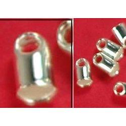 10 embouts pour cordelette en métal argenté 2,5x3,5mm