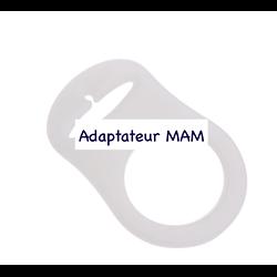 Adaptateur tétine MAM en silicone pour attache-tétine 48x32mm