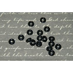 20 anneaux en caoutchouc noir 6mm pour perles pandora