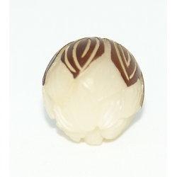Perle sculptée bouton de lotus en graine de lotus 13mm