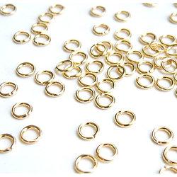 20 anneaux ronds à ouvrir en métal doré 5mm