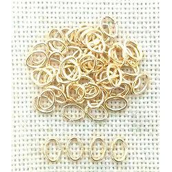 20 anneaux ovales en métal doré 7x5mm