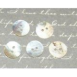 10 boutons de nacre ronds 10mm
