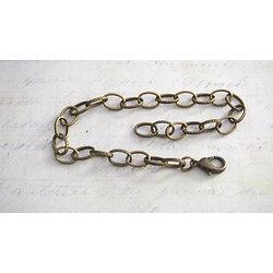 Support de bracelet à mailles ovales texturées en métal couleur bronze 19mm