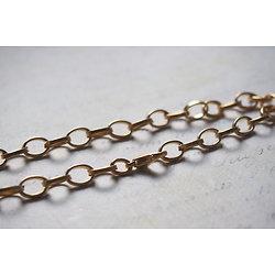 Support bracelet à personnaliser en métal doré mailles ovales 21,5cm