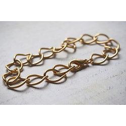 Support bracelet à personnaliser en métal doré 23cm