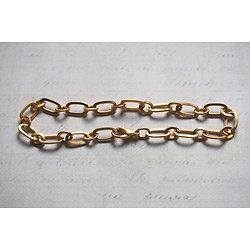 Support bracelet à personnaliser en métal doré mailles courtes / longues 23cm