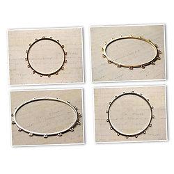Bracelet bangle doré / argenté à garnir 16 anneaux 2 modèles