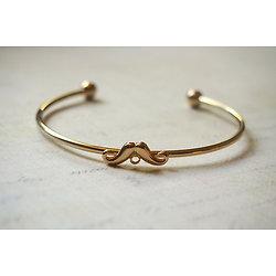 Bangle / Jonc / Support de bracelet en métal argenté / doré à moustaches avec connecteur 6cm
