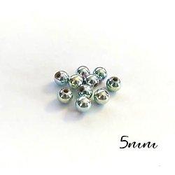 20 perles rondes effet irisé en acrylique 5mm