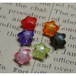 5 perles étoile acrylique 11mm