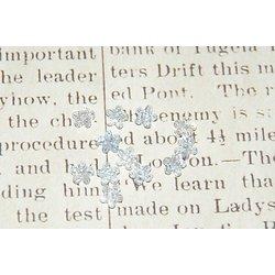 10 mini perles fleur bleue en acrylique transparent 7x4mm