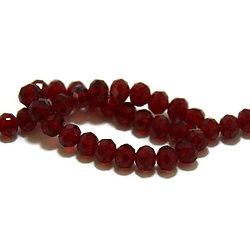 20 perles en cristal rouge à facettes 6mm