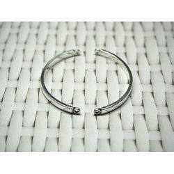 2 arcs de cercle pour bracelet en métal argenté 44x19mm