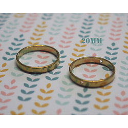 Anneau connecteur/perle rond en laiton doré 20/26mm