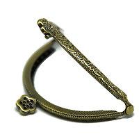 Fermoir pour porte-monnaie en métal bronze - 3 dimensions