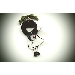 """Broche """"Le doux rêve de Juliette"""", bijou romantique et féérique pour femme"""