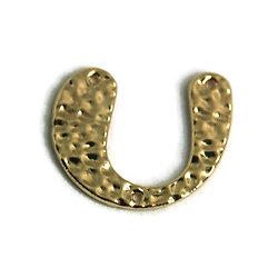 Connecteur U en métal doré martelé 20x25mm