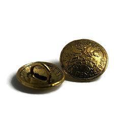 """Bouton rond bombé """"Six pence"""" en métal doré vieilli 18,5mm"""