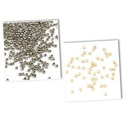 20 perles à écraser en acier inoxydable doré ou argenté 1,5 ou 2mm