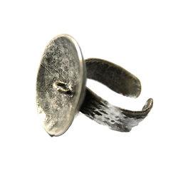 Support bague réglable à plateau et anneau en métal antique 21mm