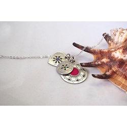 """Bracelet fin aux breloques colorées """"Rosaces"""""""