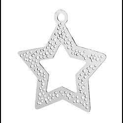 Breloque étoile en acier inoxydable 21x20mm