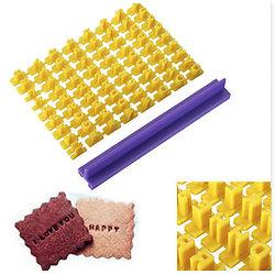Kit complet alphabet pour FIMO ou pâtisserie 74 pièces