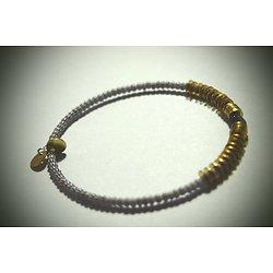"""Bracelet rigide """"Kinshasa All blue"""", bracelet ethnique et féminin"""