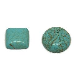 Cabochon en howlite turquoise