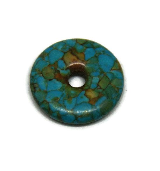 Donut en howlite bleue 23.5mm