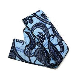 Bandeau pour cheveux en WAX bleu