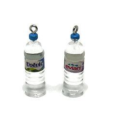 Breloque bouteille d'eau en résine Evian / Volvic