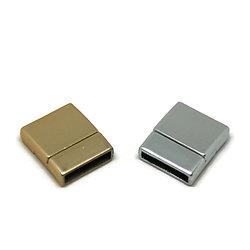 Fermoir magnétique pour cordon plat en métal brossé 20x17mm