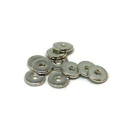 10 rondelles en métal argenté 8mm