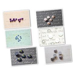 10 appliques demi-cabochons ronds nacrés en acrylique 4/6/8mm