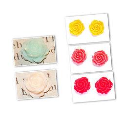 Fleur / rose en résine 14x8mm
