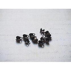 20 serre-fils en métal couleur bronze 8x4mm