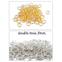 50 anneaux double tour / anneaux brisés / splits en métal 5mm