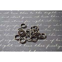 50 anneaux double tour en métal couleur bronze 7mm