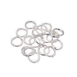 20 anneaux ouverts en métal argenté 6mm