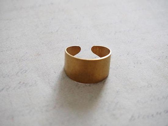 Support de bague plein réglable en laiton doré 20x12mm
