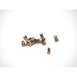 20 serre-fils en métal couleur cuivre 6x3mm