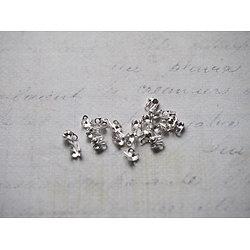 25 serre-fils en métal argenté 4x3,5mm