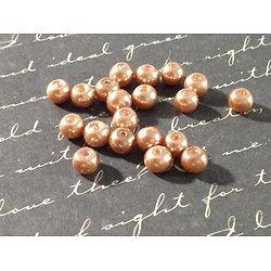 50 perles rondes nacrées en acrylique 4mm